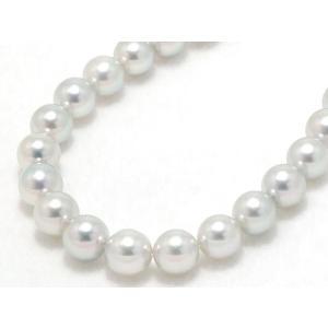 真多麻鑑別書つきあこや真珠ナチュラルグレー(ナチュラルブルー)ネックレス8.0mm〜8.5mm|yokota-pearl