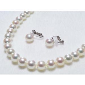 花珠鑑別書付きあこや真珠ネックレス7.5mm〜8.0mm 2点セット|yokota-pearl