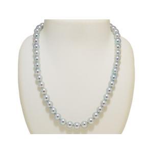 真多麻 まだま あこや真珠ナチュラルグレー/ナチュラルブルー ネックレス 8.5mm〜9.0mm 2点セット|yokota-pearl|02