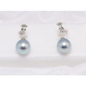 真多麻 まだま あこや真珠ナチュラルグレー/ナチュラルブルー ネックレス 8.5mm〜9.0mm 2点セット|yokota-pearl|03