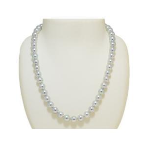 真多麻(まだま) あこや真珠ナチュラルグレー(ナチュラルブルー)ネックレス8.5mm〜9.0mm 2点セット|yokota-pearl|02