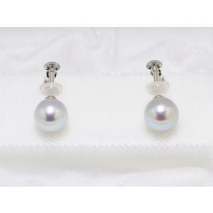 真多麻(まだま) あこや真珠ナチュラルグレー(ナチュラルブルー)ネックレス8.5mm〜9.0mm 2点セット|yokota-pearl|03