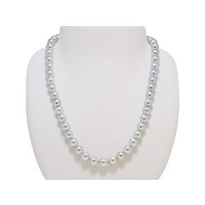 8.0mm〜8.5mm 真多麻 まだま あこや真珠 ネックレス ナチュラルグレー/ナチュラルブルー イヤリングまたはピアス 2点セット yokota-pearl 02