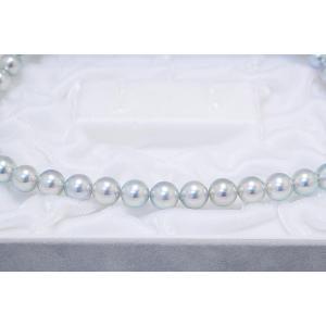 8.0mm〜8.5mm 真多麻 まだま あこや真珠 ネックレス ナチュラルグレー/ナチュラルブルー イヤリングまたはピアス 2点セット yokota-pearl 04