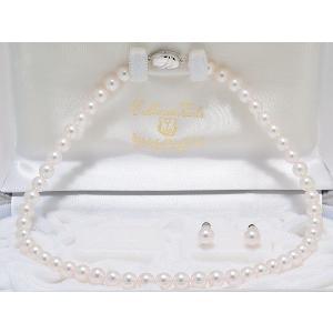 オーロラ花珠鑑別書つき あこや真珠ネックレス7.5mm〜8.0mm イヤリングまたはピアス2点セット|yokota-pearl
