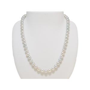 7.5mm〜8.0mm 真多麻 まだま あこや真珠ナチュラルグレー/ナチュラルブルー ネックレス 2点セット|yokota-pearl|02