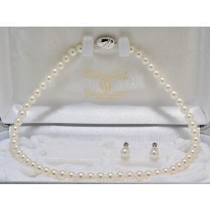 オーロラ花珠鑑別書つき あこや真珠7.0mm〜7.5mmネックレス・イヤリングまたはピアス7.7mm 2点セット|yokota-pearl
