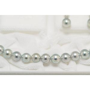あこや真珠ネックレス8.0mm〜8.5mm ナチュラルブルーグレー 真多麻鑑別書付き 2点セット|yokota-pearl|04