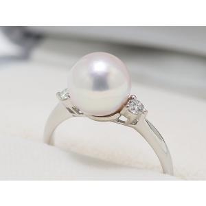 あこや真珠8.5mmリング 指輪 Pt.900|yokota-pearl