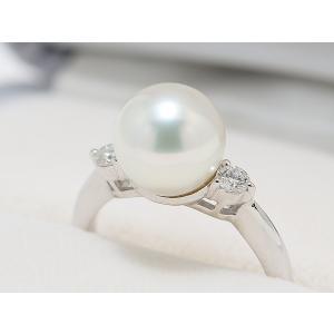 オーロラ天女鑑別書つき あこや真珠9.4mm リング 指輪|yokota-pearl