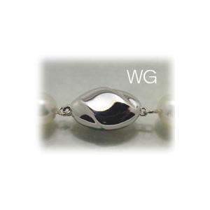 フォーマルネックレス用ホワイトゴールドクラスプ2|yokota-pearl