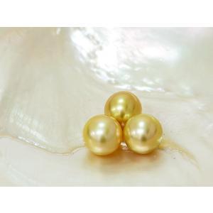 南洋真珠 白蝶真珠 ペンダント 12mm K18 ナチュラルゴールド ゴールデンパール|yokota-pearl
