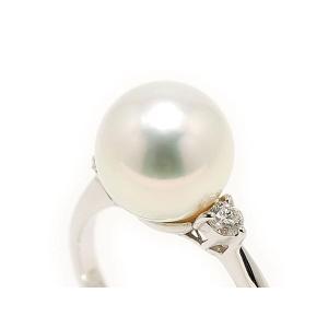 南洋真珠(白蝶真珠)9.5mmリング(指輪)鑑別書つき|yokota-pearl