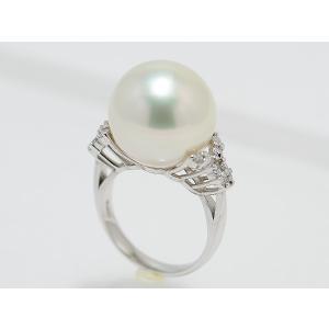 南洋真珠 白蝶真珠 15mmUPリング Pt.900 D0.25ct|yokota-pearl