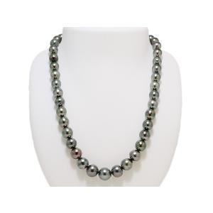 黒蝶 黒真珠 パール ネックレス ダークグリーン 8mmX10.5mm レディース ファッション|yokota-pearl