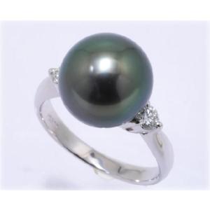 黒蝶真珠(黒真珠)10mmリング ピーコックグリーン|yokota-pearl