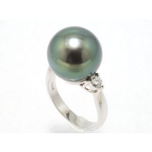黒蝶真珠(黒真珠)13mmリング |yokota-pearl