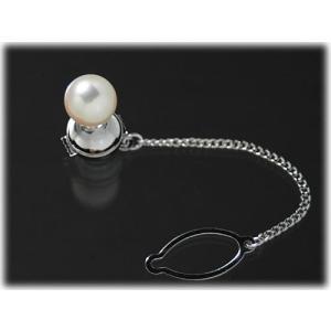 【高品質】【男性向け】【大珠】【タイタック】あこや真珠9mmタイタック(タイピン)|yokota-pearl