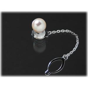【高品質】【男性向け】【大珠】【タイタック】あこや真珠9.5mmタイタック(タイピン)|yokota-pearl