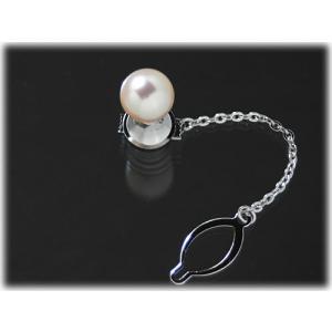 あこや真珠9.5mmタイタック(タイピン)|yokota-pearl
