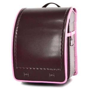 ランドセル 横山鞄オリジナル イタリア製牛革コンビ 茶色×ファンシーピンク...