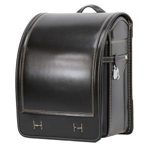 ランドセル 横山鞄オリジナル イタリア製牛革ベーシック 黒×...
