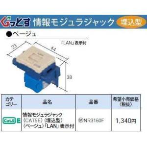 NR3160F:ぐっとすシリーズ情報モジュラジャック(CAT5E)(埋込型)(ベージュ)|yonashin-home