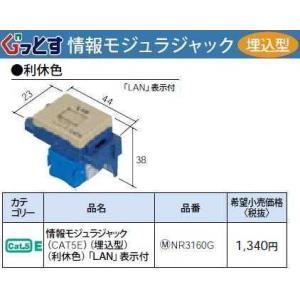 NR3160G:ぐっとすシリーズ情報モジュラジャック(CAT5E)(埋込型)(利休色)|yonashin-home
