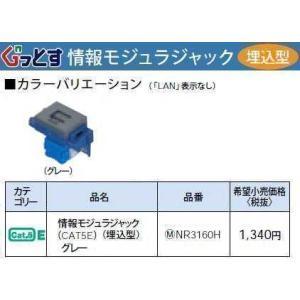 NR3160H:ぐっとすシリーズ情報モジュラジャック(CAT5E)(埋込型)(グレー)|yonashin-home