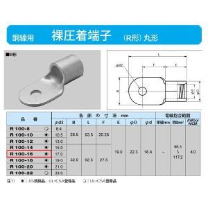 丸形圧着端子(R形):R100-16|yonashin-home