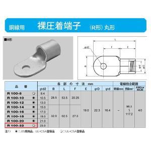 丸形圧着端子(R形):R100-22|yonashin-home