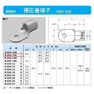 丸形圧着端子(R形):R200-10S|yonashin-home