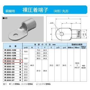 丸形圧着端子(R形):R200-12|yonashin-home
