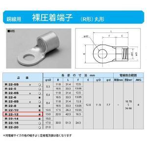 丸形圧着端子(R形):R22-12|yonashin-home