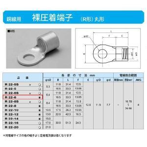 丸形圧着端子(R形):R22-6|yonashin-home