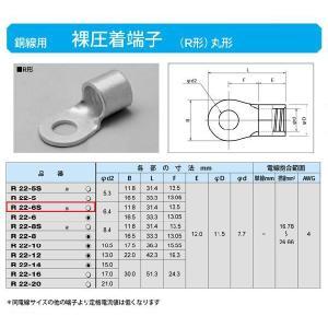 丸形圧着端子(R形):R22-6S|yonashin-home
