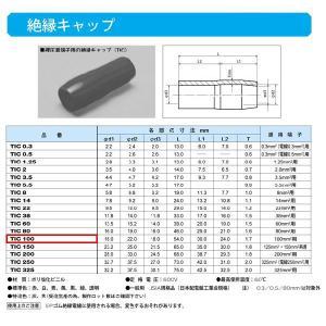 圧着端子用絶縁キャップ(TIC)黒:TIC100-B|yonashin-home