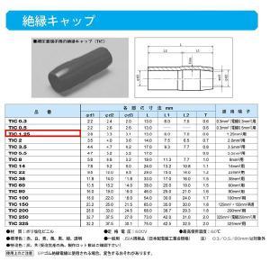 圧着端子用絶縁キャップ(TIC)黒:TIC1.25-B|yonashin-home