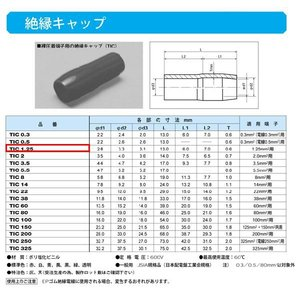 圧着端子用絶縁キャップ(TIC)緑:TIC1.25-G|yonashin-home