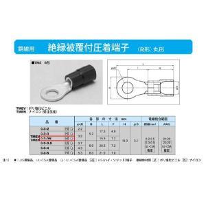 絶縁被覆付丸形圧着端子(R形)白:TMEV0.3-3N-W yonashin-home