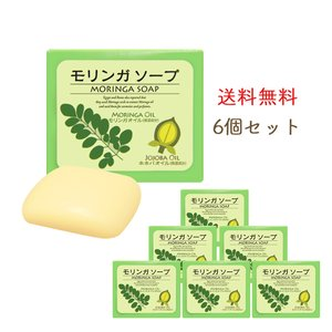洗顔石鹸 固形 せっけん 無添加 保湿 低刺激 モリンガ石けん ホホバオイル お得な6個セット|yonekichi