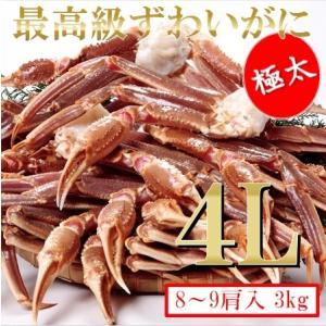 早い者勝ち!ニッスイ青箱4R・生ずわい蟹4L・3kg(9肩入...