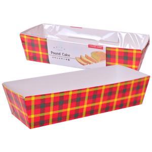 パウンドケーキ型 ファブリックチェック:レッドタータン 10枚|yoostore