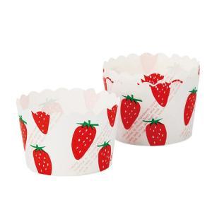 カップケーキ型 イチゴ柄 21枚|yoostore