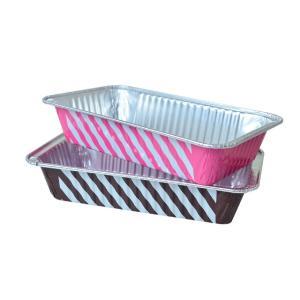 アルミパウンドケーキ型 Mサイズ ストライプ柄 6枚|yoostore