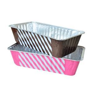 アルミパウンドケーキ型 Lサイズ ストライプ柄 4枚|yoostore