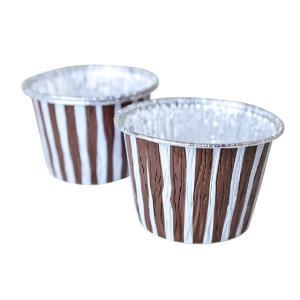 アルミカップケーキ型 ストライプブラウン 3枚|yoostore