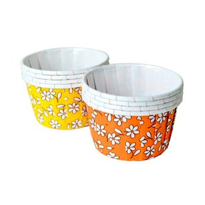 カップケーキ型 ギャザー フラワパターン 2色アソート 6枚|yoostore