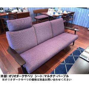 カリモク 布2Pロングソファー WU6112E324 オーク材 送料無料|yorokobi|09