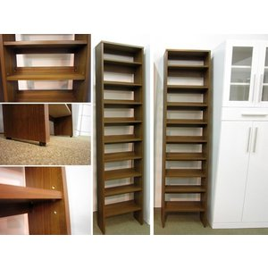 本棚 書棚 シェルフ ライド 45 ナチュラル色/ブラウン色|yorokobi